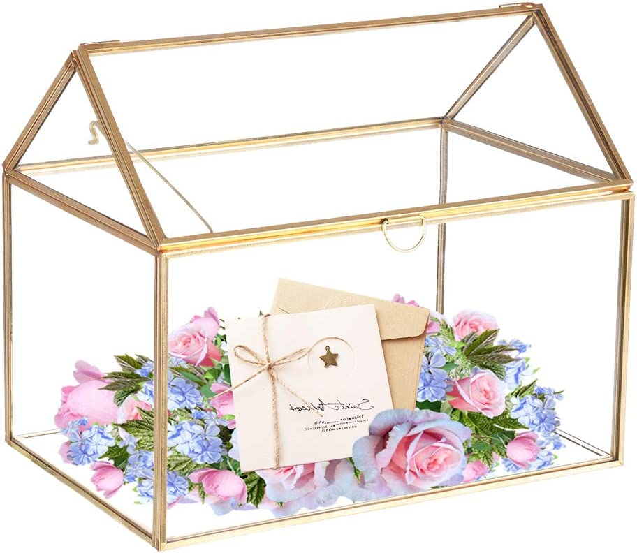 Wedding box with slot for cards White card box for wedding White silver sparkles box cards Wedding card holder box Wedding gift card box