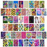 CY2SIDE - Set di 50 quadri estetici per collage da parete, 10,2 x 15,2 cm, set di 50 collage luminosi, decorazione colorata per la camera da letto, decorazione per la camera da letto