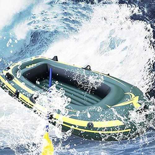 PZJ-Schlauchboot Kanu - Aufblasbares Kajak mit Luftpumpe Seilpaddelboot für Erwachsene und Kinder, Tragbares Camouflage Fischerboot Fishing