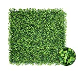 Falflor Artificial Boxwood Panels 12PCS Topiary Hedge Plant 20'X20' Privacy Hedge Screen UV Protected Grass Walls for Indoor Outdoor Wall Garden Fence Backyard Home Decor