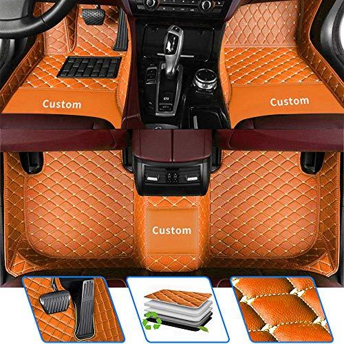 Tuqiang Auto Fußmatten - Benutzerdefinierte Passend Für Hyundai Solaris Elantra Sonata Active Accent Azera Equus i10 i20 ix20 i40 i30 ix25 Anti Rutsch Leder Automatten Full Set Orange