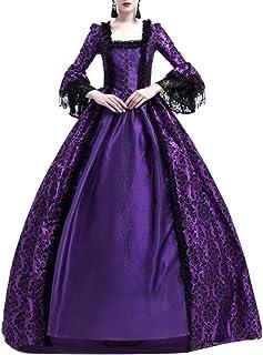 DAY8 Tunica Medievale Vintage Abbigliamento Gotico Donna Camicetta Pizzo Chiffon Donna Trasparente Senza Spalline Costume Halloween Strega Medioevo Donna a Manica Lunga
