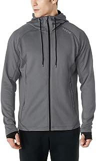 Sponsored Ad - TSLA Men's Full Zip Up Hoodie Jacket, Long Sleeve Performance Training Hoodie, Lightweight Workout Running ...
