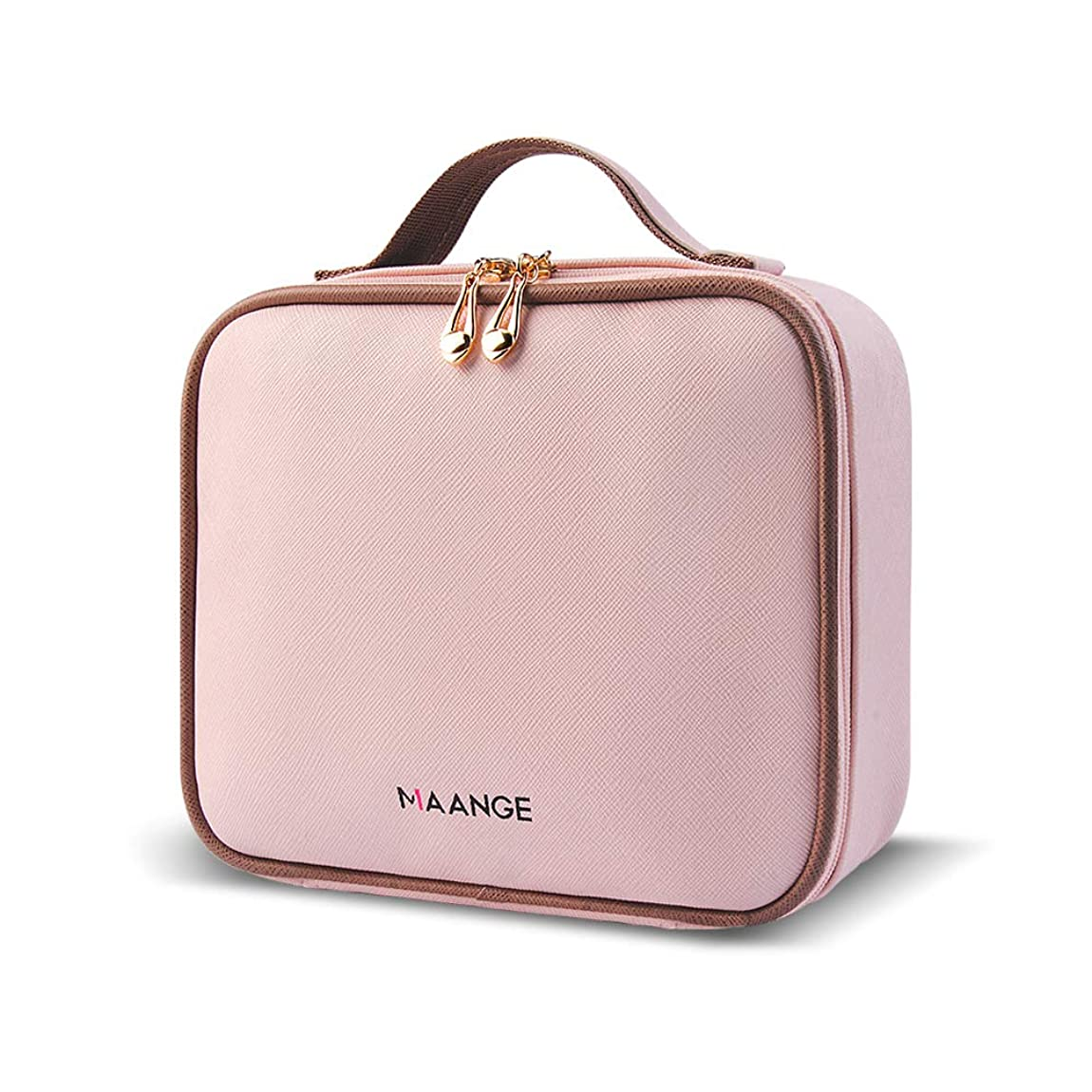 さまよう脅かす望ましいMAANGE 化粧ポーチ メイクポーチ コスメ収納ポーチ 高品質収納ボックス 旅行バッグ バニティポーチ 小物入れ 出張用バッグ(ピンク)
