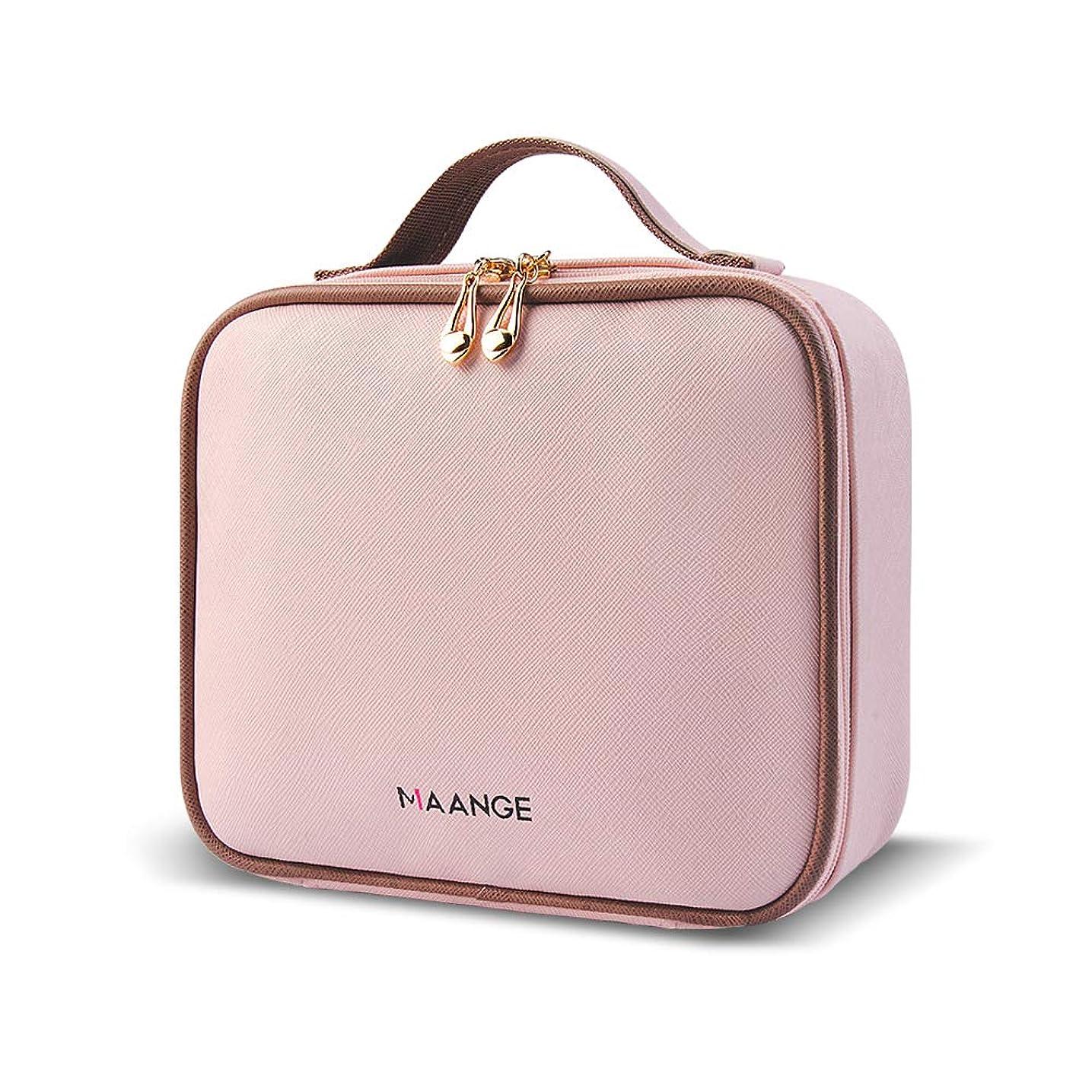 モチーフ知覚するランドマークMAANGE 化粧ポーチ メイクポーチ コスメ収納ポーチ 高品質収納ボックス 旅行バッグ バニティポーチ 小物入れ 出張用バッグ(ピンク)