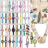 Sunshine smile Tatuaje,Tatuaje De Infantil,Tatuaje para niñas,Tatuajes temporales niños Kits,Tatuaje De Infantil,Tatuaje De Infantil,Etiqueta engomada Impermeable del Tatuaje (Reloj)