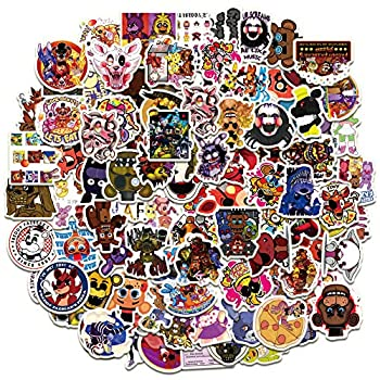 Five Nights at Fred_dy s Stickers 101PCS Cartoon Gaming Action Figures Art Work for Laptop Bumper Computer Scrapbook Pencil Case Boys FN_AF Decorations Gifts