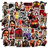 50pcs Game Red Dead Redemption Stickers for Personalize Water Bottle Car Helmet Skateboard Luggage Bike Bumper Notebook Laptop Waterproof Graffiti (Red Dead: Redemption)