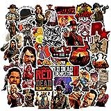50pcs Game Red Dead Redemption Stickers for Personalize Water Bottle Car Helmet Skateboard Luggage Bike Bumper Notebook Laptop Waterproof Graffiti (Red Dead: Redemption)