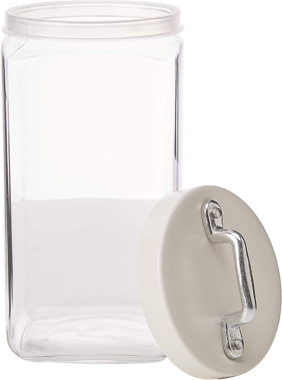 el mas reciente Italo Ottinetti Tarro Tarro Tarro Cuadrado de Cristal con Tapa Pintada (1,5 L), Color blancoo  conveniente