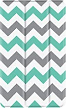 TNP Slim Case for All-New Amazon Fire 7 Tablet (7th Generation, 2017 Release), Ultra Lightweight Slim Shell Standing Cover with Auto Wake/Sleep (Chevron Teal)