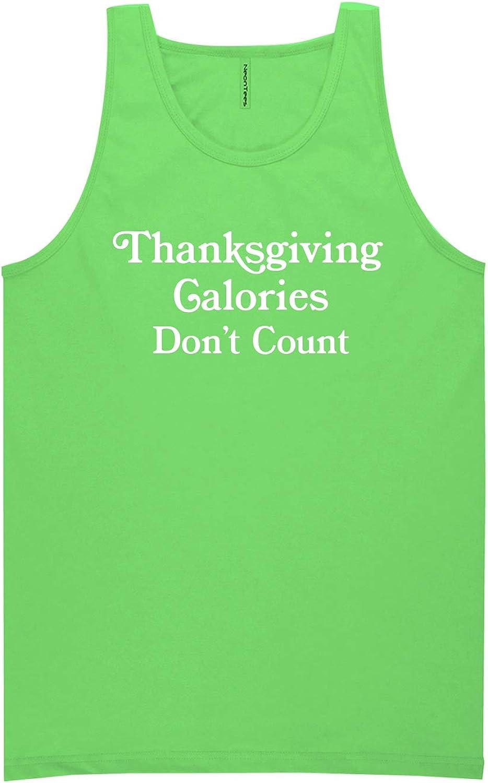 zerogravitee Thanksgiving Calories Don't Count Neon Green Tank Top - XX-Large