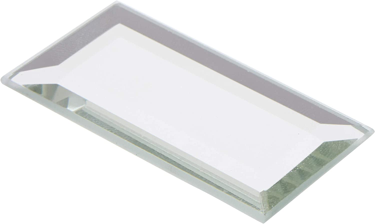2 inch x 4 inch Plymor Rectangle 3mm Beveled Glass Mirror