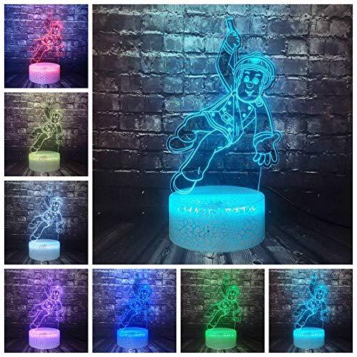 Brandweerman Sam Cartoon 3D Optische LED nachtlampje Kid Boy slaapkamer decoratie 7 kleuren stemming tafellamp vakantie verjaardag mode cadeau