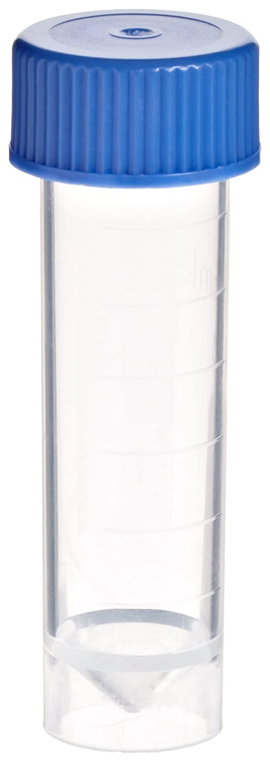 Courier shipping free BioSpec 3205 Polypropylene 7mL Micro Vial with Cap Over item handling ☆ Pack 1000 of