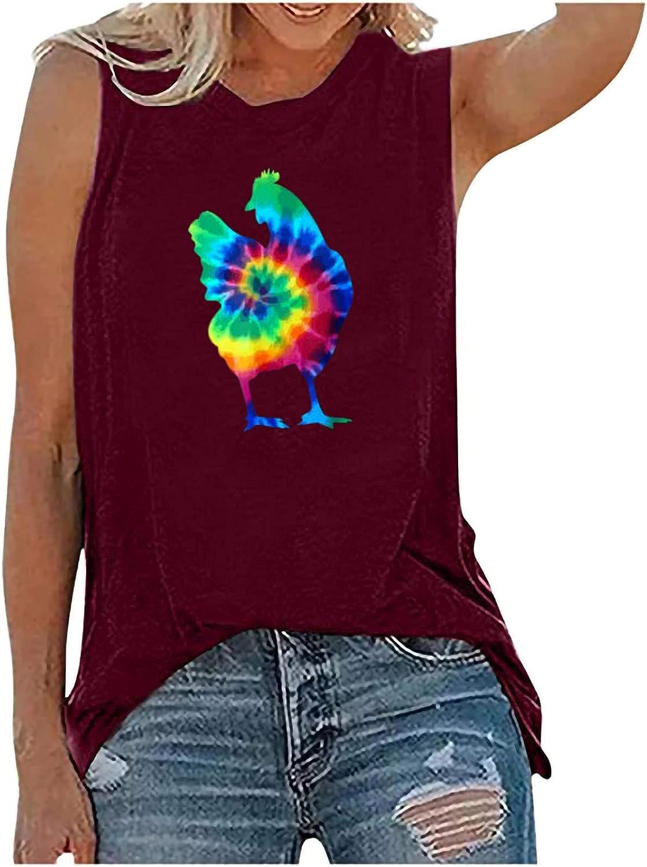 Women Summer Tops Women's Chick Vest Farm Casual T-Shirt Tops
