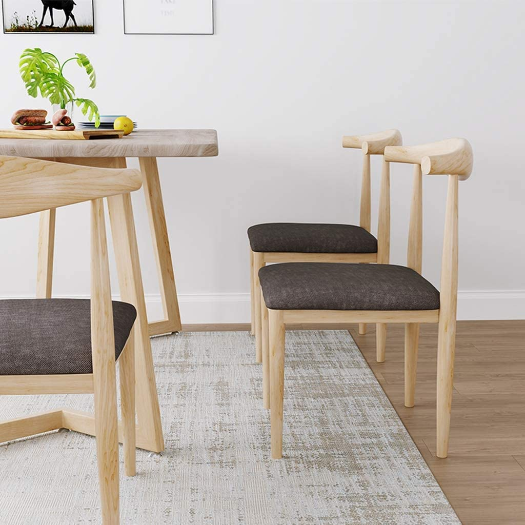 XXT Chaise de salle, Chaise de bureau simple, créative Dossier, Chaise Loisirs, Maison adulte Chaise de salle Durable (Color : Khaki) Brown