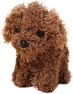 Vel Plush Keychain Stuffed Animal Dog Toy Fashion Accessory Backpack Clips 5 inch (Brown)