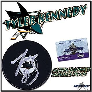 TYLER KENNEDY Signed SAN JOSE SHARKS Puck w/COA