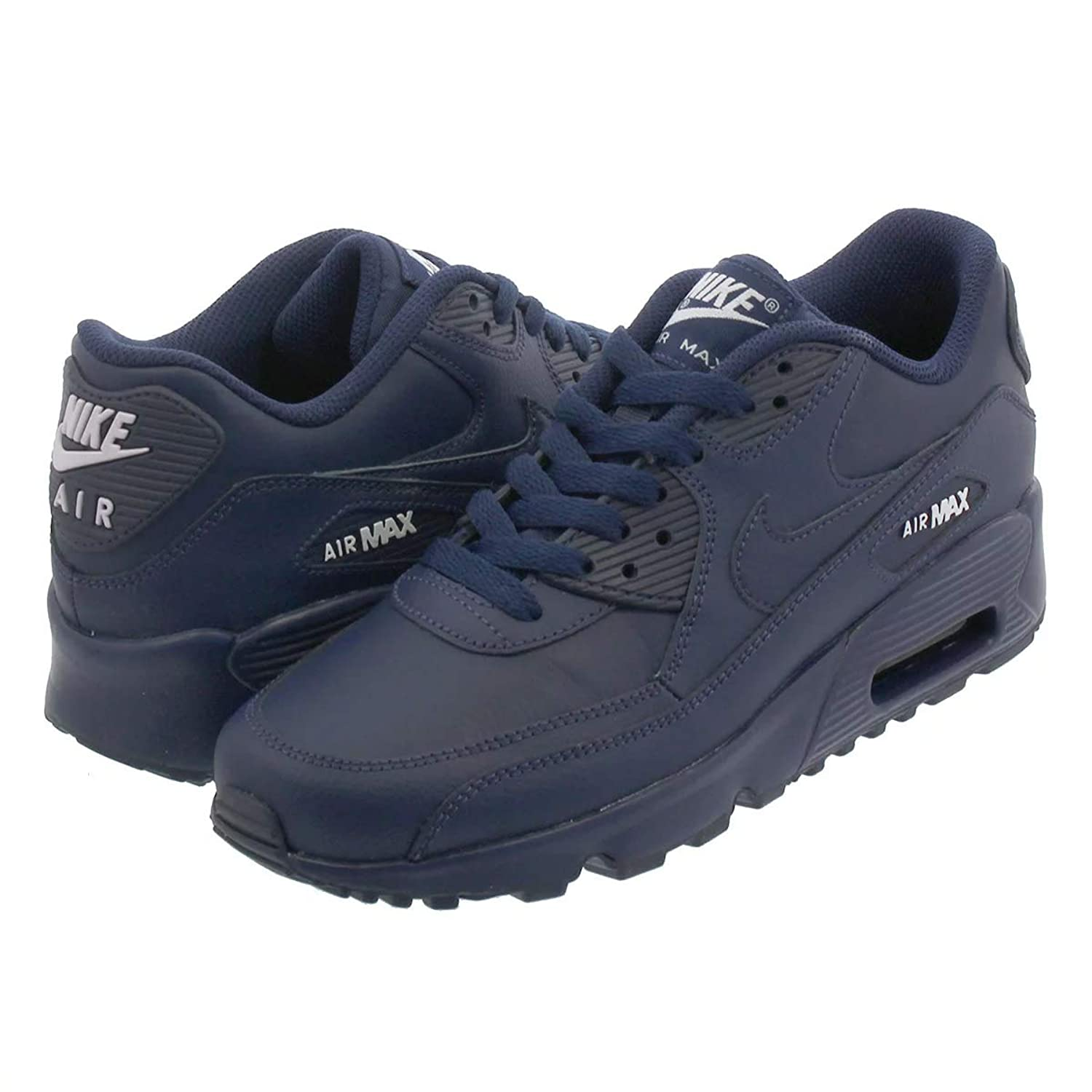 [ナイキ] AIR MAX 90 LTR GS MIDNIGHT NAVY/WHITE [並行輸入品]