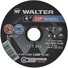 Walter 11T042 4-1/2X3/64X7/8 High Performance Zip Wheels Type 1 A60 Gr