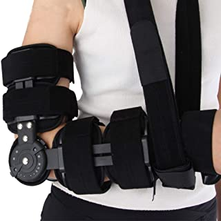 Elbow Support Splint, Hinged Elbow Arm Forarm Braces Support Splint Orthosis Orthotics Band Pad Belt Adjustable Immobilize...