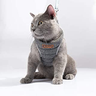 No Pull Pet Harness for Small Dog & Cat? Easy to Put on & Take Off ? Soft Padded Interior & Exterior Puppy Harness ? Snug & Comfortable