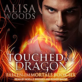 Touched by a Dragon audiobook cover art