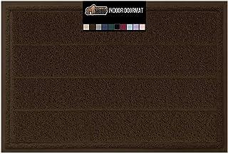 Best Gorilla Grip Original Durable Indoor Door Mat, 35x23, Large Size, Heavy Duty Doormats, Commercial Waterproof Stripe Doormat, Easy Clean, Low-Profile Mats for Entry, Garage, High Traffic Areas, Brown Review