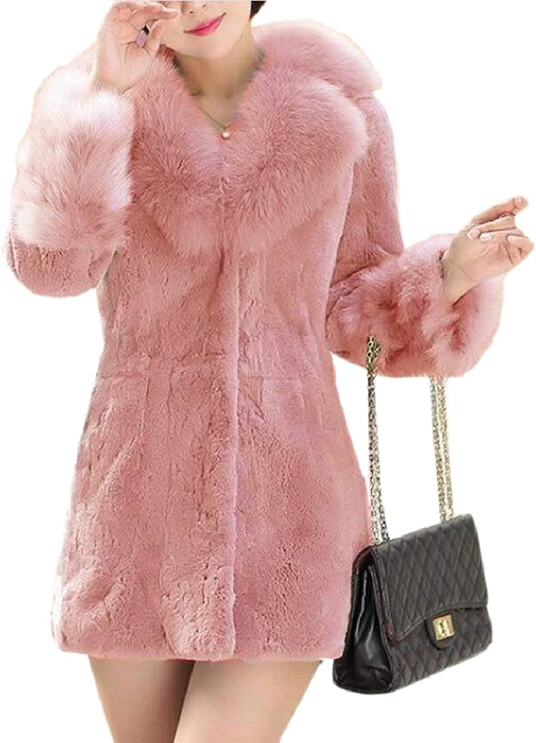 CBTLVSN Women's Solid Faux Fur Coat Jacket Fall Winter Fluffy Warm Outerwear