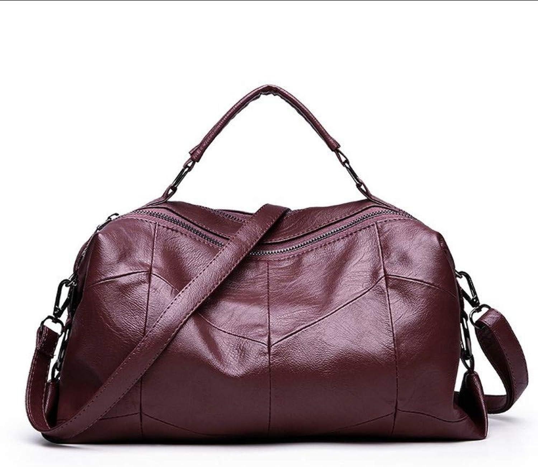 Mzdpp 2018 Winter Neue Handtasche Einfarbig Dame Reisen Handtasche Mode Frauen Schulter Handtasche Vintage Crossbody Tote B07LG1MWBF  Klassischer Stil