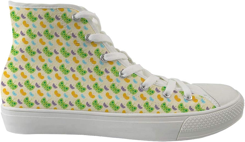 Oaheson Unisex, Unisex, Unisex, tillfälliga skor, klassiska skor Vuxna tränare Färgfulla fjärilar  lagra på nätet