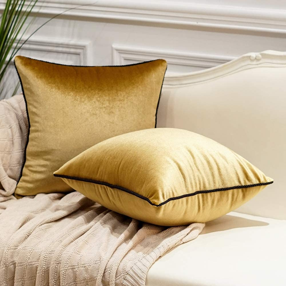 Avigers Pack of 2 Luxury Popular Soft Decorati Warp-Knitted Velvet Solid Max 90% OFF