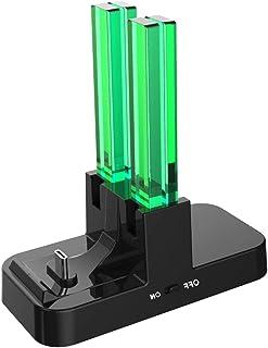 【進化版】ジョイコン 充電 Joy-Con Switch用コントローラー充電 5WAY充電可能 急速充電 プローコントローラー充電ホルダー チャージャー 充電指示LED付き (ブラック)