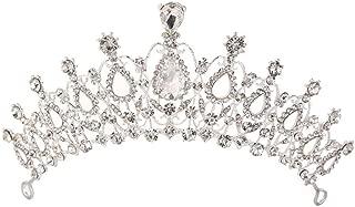 Sunshinesmile Crystal Tiara Crowns Hair Jewelry Rhinestone Wedding Pageant Bridal Princess Headband