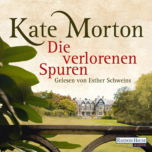 Die verlorenen Spuren                   By:                                                                                                                                 Kate Morton                               Narrated by:                                                                                                                                 Esther Schweins                      Length: 7 hrs and 28 mins     Not rated yet     Overall 0.0