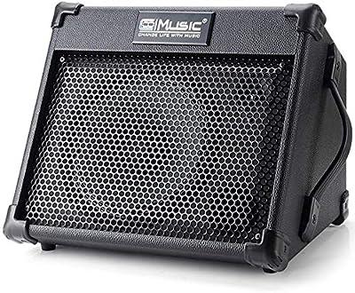 Guitar Amplifier, Personal Monitor Amplifier Electric Drum AMP PA Workstation Keyboard Speaker, Bass Acoustic Electric Guitar Amplifier, Black, by Vangoa