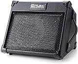 Coolmusic Tragbarer 40-W-Akustikgitarrenverstärker mit Mikrofoneingang, Unterstützung von Bluetooth, Leistung des Akkus bis zu