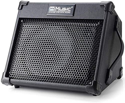 Coolmusic Akustikgitarrenverstärker, tragbarer 40-Watt-Akku für Gitarrenakustik mit Bluetooth, 3-Kanal, 2-Band-EQ, Schwarz