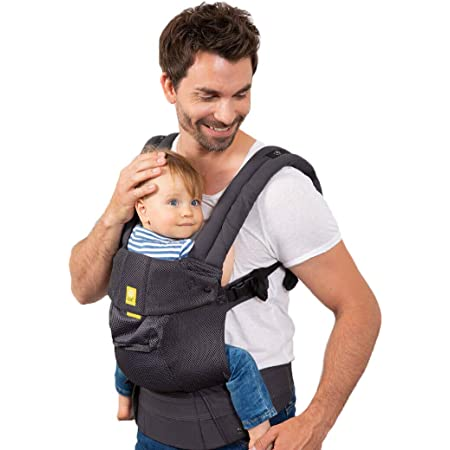 LÍLLÉbaby Complete Airflow 6-in-1 Adjustable Baby Carrier for Newborns & Toddlers – Charcoal