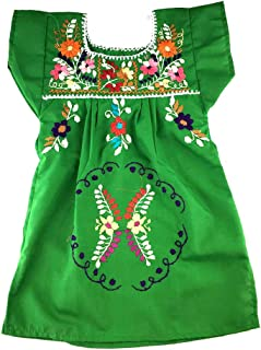 Mexican Infant Dress Green Size 1 Tehuacan Dress Day of The Dead Coco Theme Party Halloween Party