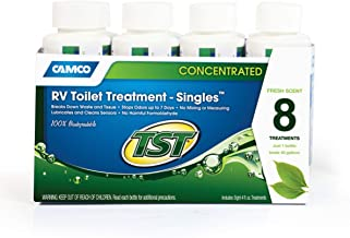 Camco TST Fresh Scent RV Toilet Treatment, Formaldehyde Free, Breaks Down Waste and Tissue, Septic Safe, Treats up to 8-40 Gallon Holding Tanks (6-Pack of 4 Ounce Singles) 40220, 6 Pack