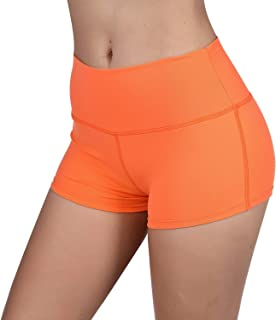 Womens Stretch High Waist Athletic Yoga Shorts