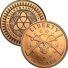 2017 1 oz .999 Pure Copper Round/Challenge Coin (Liberty or Death)