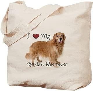 CafePress - Golden Retriever - Natural Canvas Tote Bag, Cloth Shopping Bag