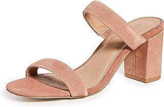 حذاء نسائي بكعب INES من Soludos، لون وردي صاحري، مقاس 6 متوسط أمريكي