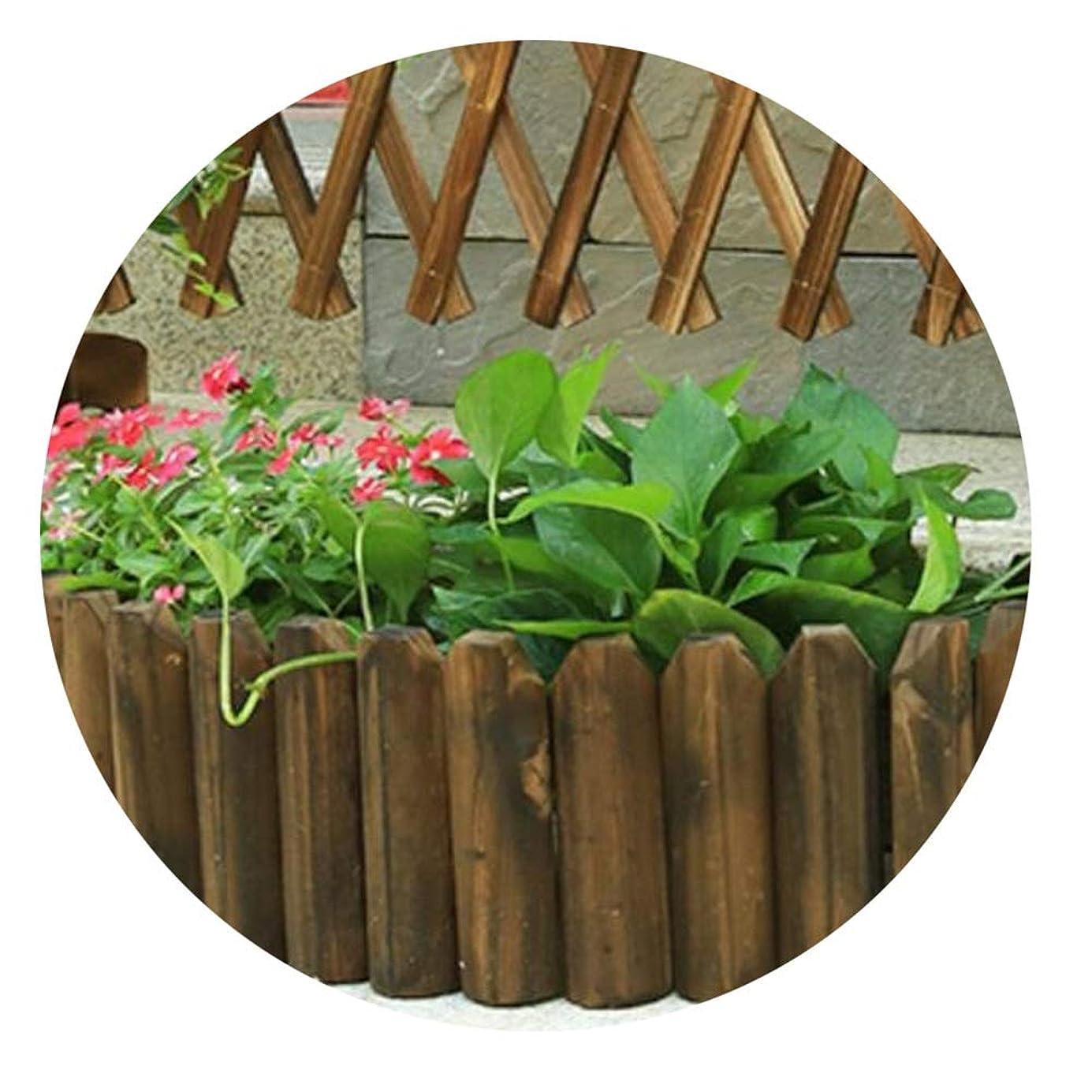 憲法同種の立方体YYFANG 木製フェンス屋外の木製の防腐剤の花壇のDecorationの装飾の高温炭化はスペース、5つのサイズを分けました (Color : Brown, Size : 118x40cm)