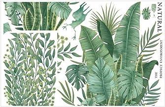 WINOMO Hojas Tropicales Verdes Calcomanía de Pared Palmera Hoja Plantas Pegatina de Pared Arte Murales Peel and Stick Calc...