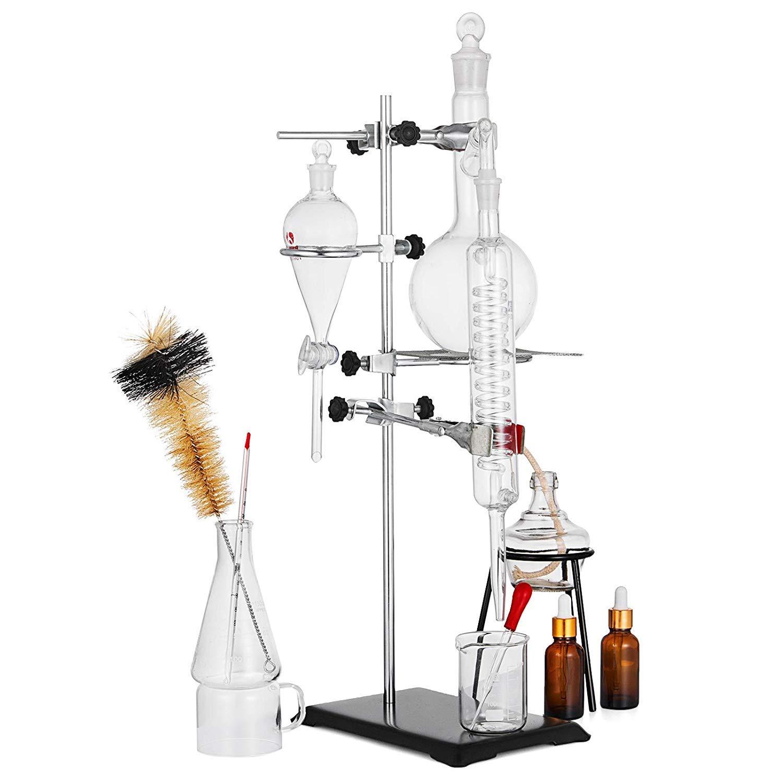 VEVOR Distillation Apparatus 500ML List price Lab All stores are sold Disti Glass Glassware Kit