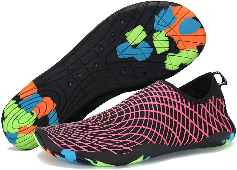 Oberm Womens Mens Water Sport shoes Quick-Dry Barefoot Aqua Socks for Pool Swim Beach Surf Walking River Aerobics Yoga